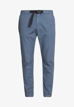 STRAIGHT LEG WITH BELT - Trousers - vintageblue