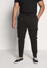 Urban Classics - TACTICAL TROUSER - Cargo trousers - black - 0