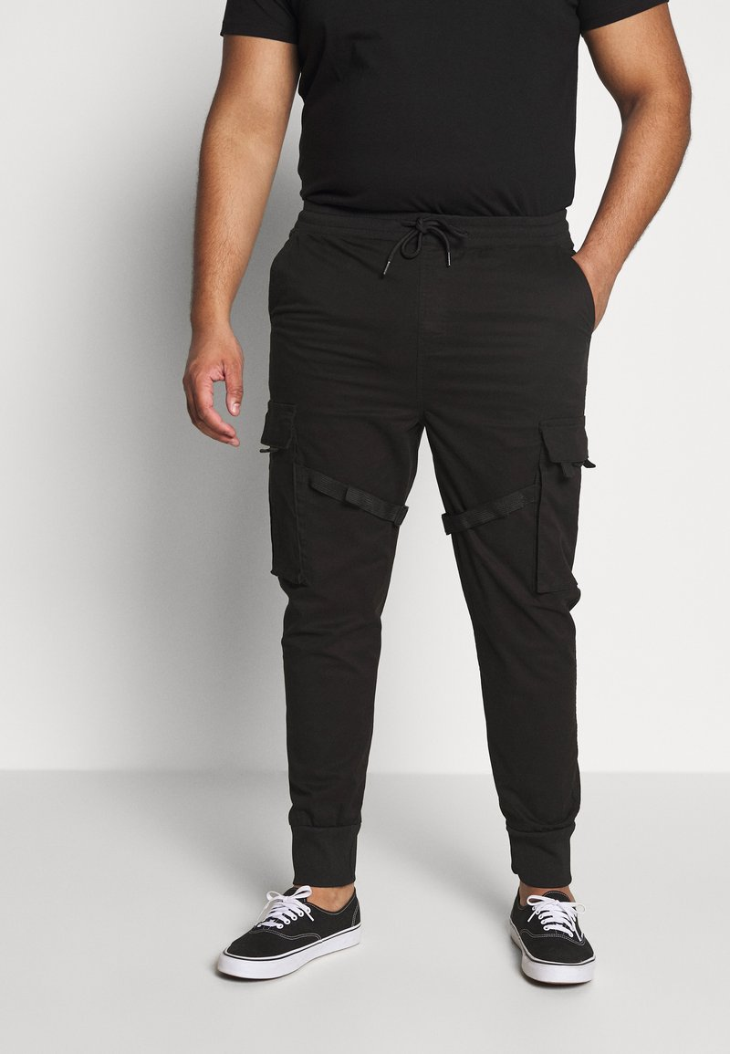 Urban Classics - TACTICAL TROUSER - Cargo trousers - black