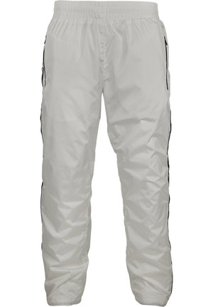 URBAN CLASSICS HERREN SOUTHPOLE LOGO TAPE TRACK PANTS - Spodnie treningowe - white