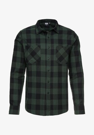 CHECKED SHIRT - Skjorta - black/forest