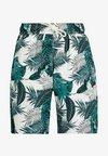 Urban Classics - PATTERN RESORT - Short - palm leaves