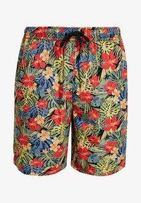 Urban Classics - PATTERN RESORT - Shorts - black/tropical - 3