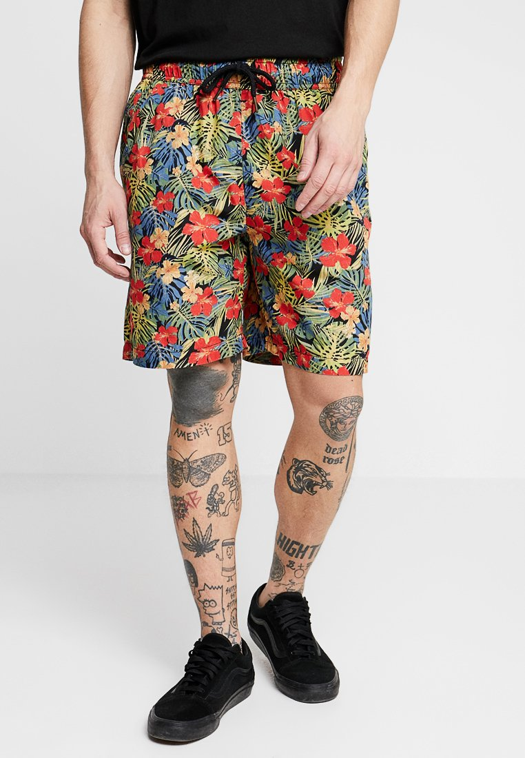 Urban Classics - PATTERN RESORT - Shorts - black/tropical