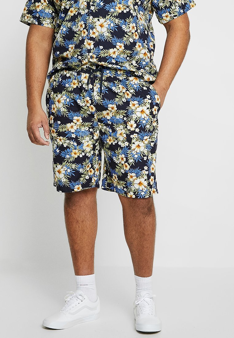 Urban Classics - PATTERN RESORT - Shorts - blue