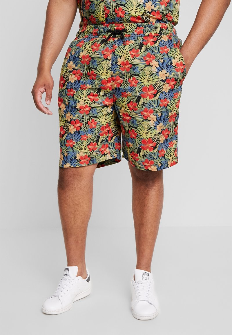 Urban Classics - PATTERN RESORT - Shorts - black/tropical