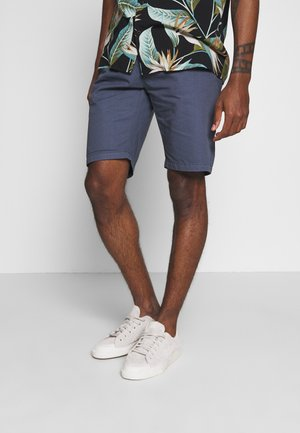 STRAIGHT LEG WITH BELT - Shorts - vintageblue