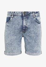 Shorts di jeans - light blue acid wash