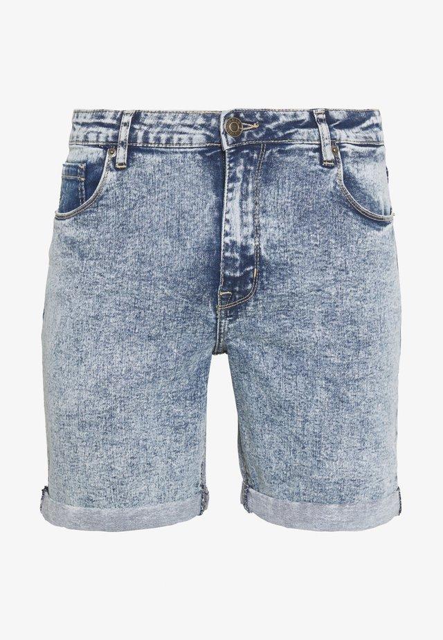 Jeans Short / cowboy shorts - light blue acid wash