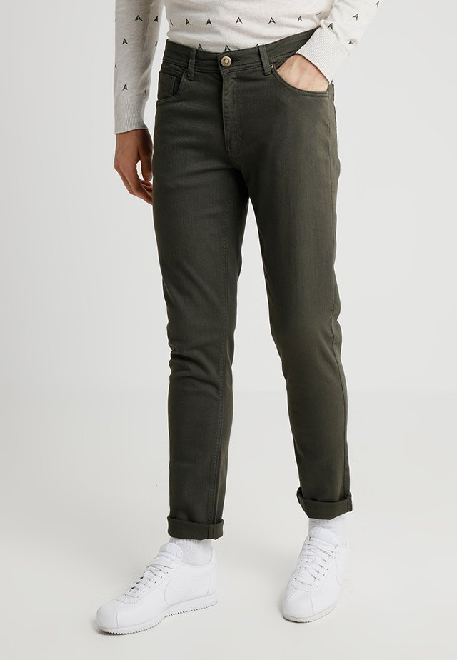BASIC STRETCH - Jeans Slim Fit - olive