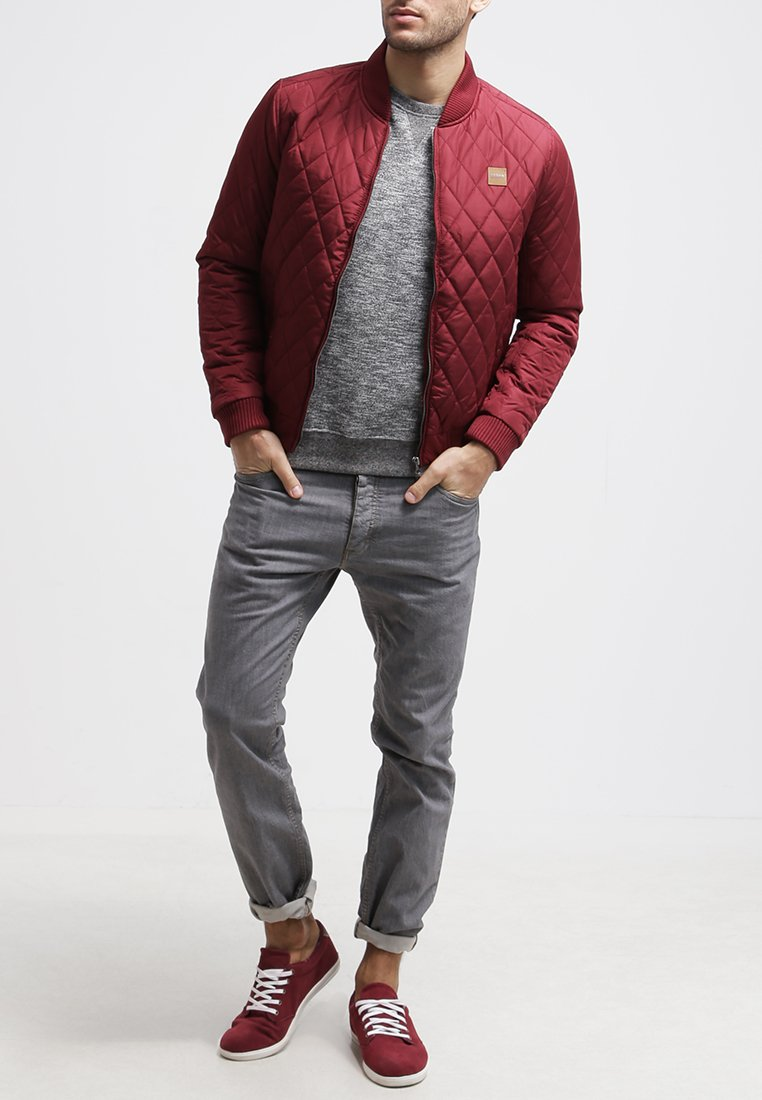 Urban Classics - DIAMOND - Light jacket - burgundy