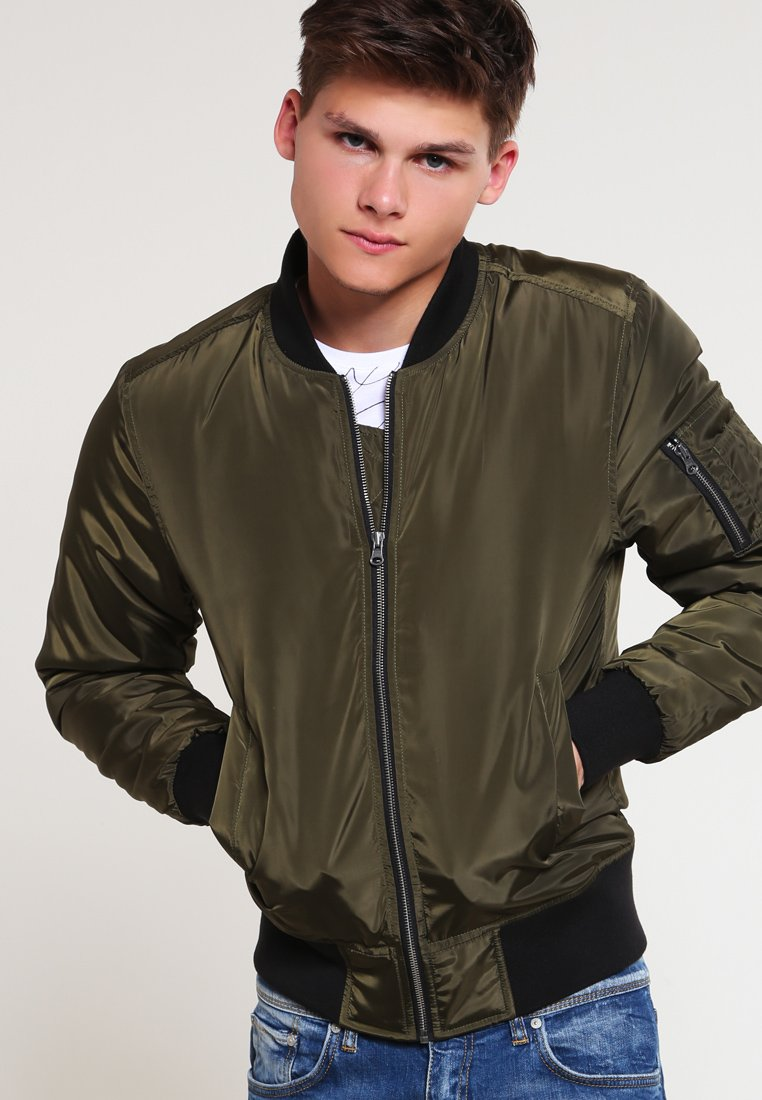 Urban Classics - Bomber Jacket - darkolive/black