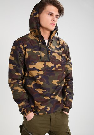 CAMO PULL OVER WINDBREAKER - Veste coupe-vent - wood