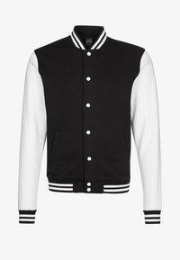 Urban Classics - Bluza rozpinana - black/white - 4