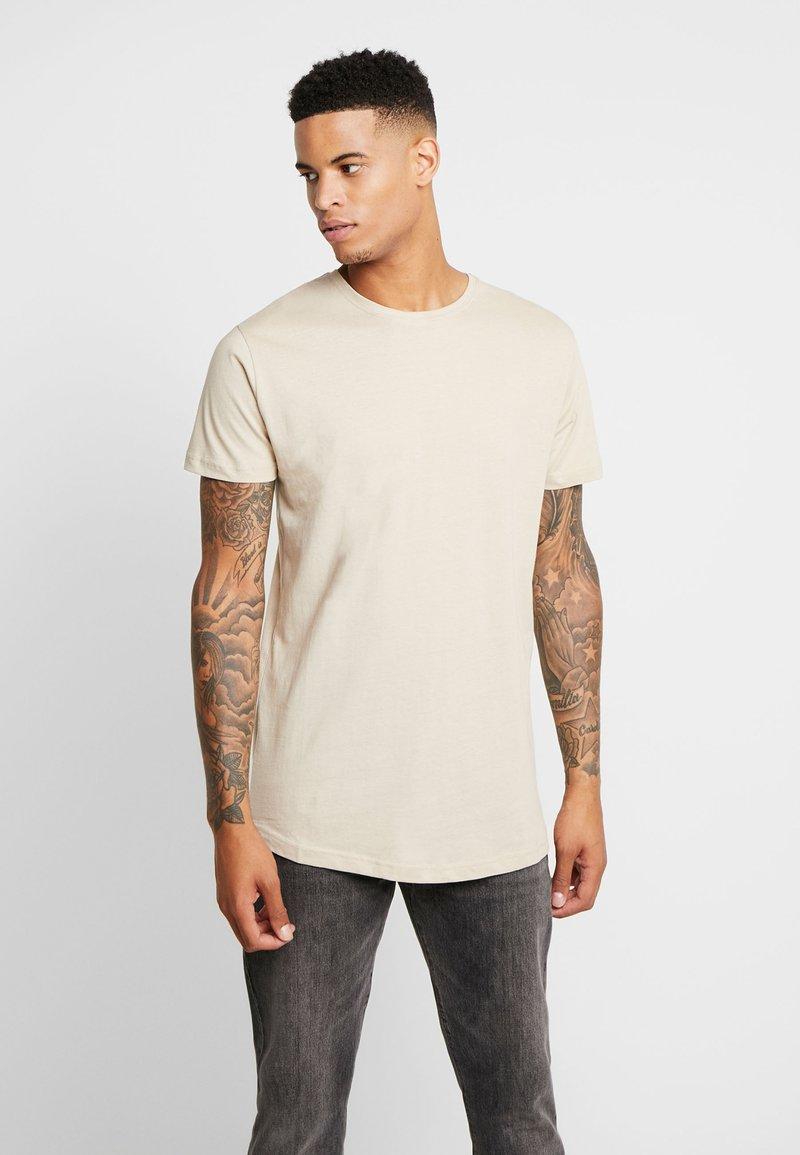 Urban Classics - 2 PACK - Basic T-shirt - olive/sand