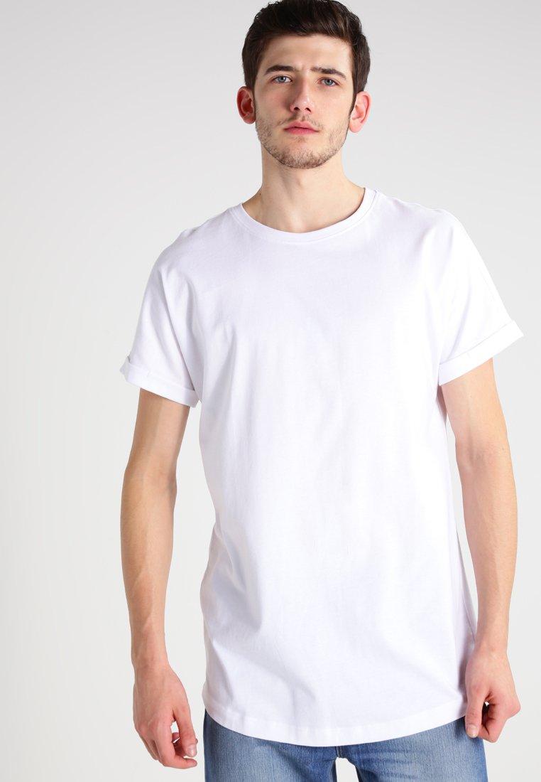 Urban Classics - LONG SHAPED TURNUP - Basic T-shirt - white