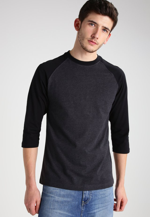 Long sleeved top - charcoal/black