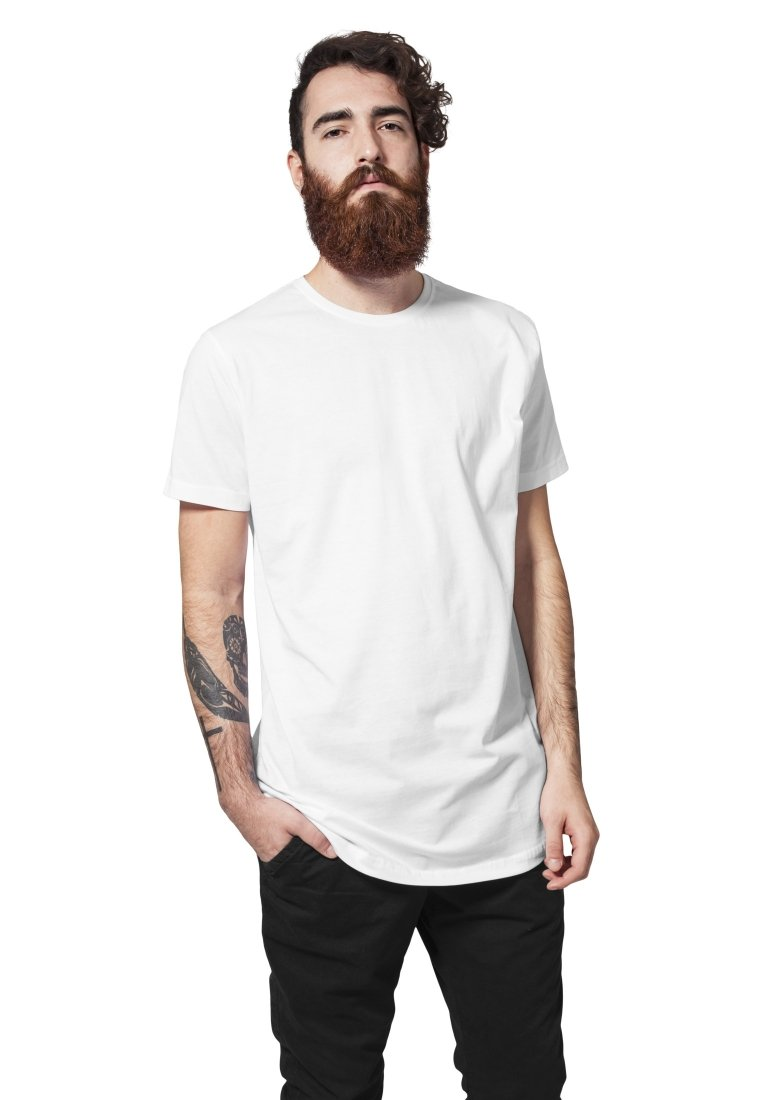 Urban Classics - SHAPED LONG TEE - Basic T-shirt - white