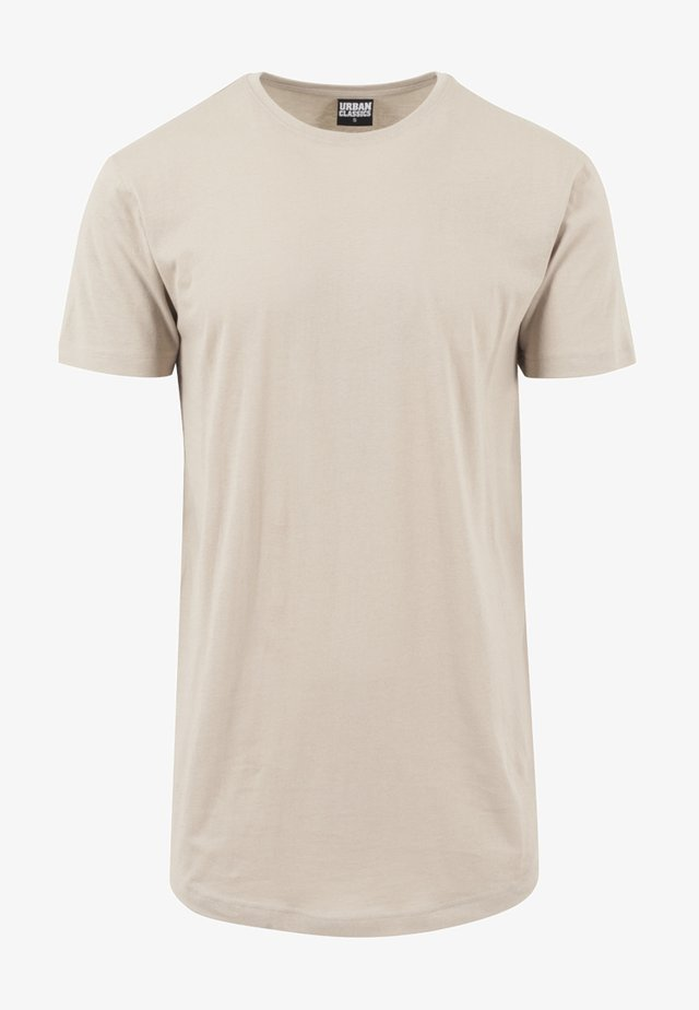 SHAPED LONG TEE DO NOT USE - Basic T-shirt - toffee