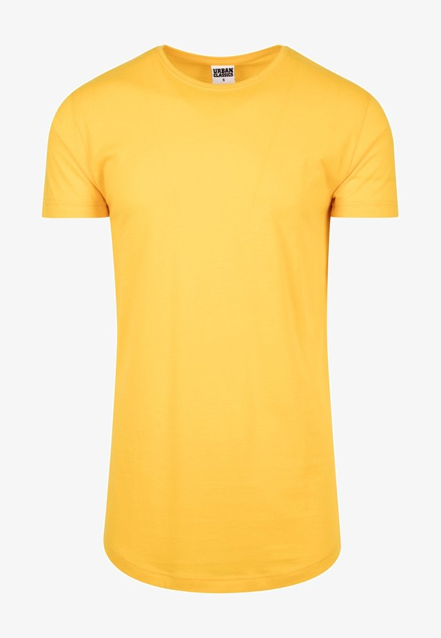 SHAPED LONG TEE DO NOT USE - T-shirt basique - powderyellow