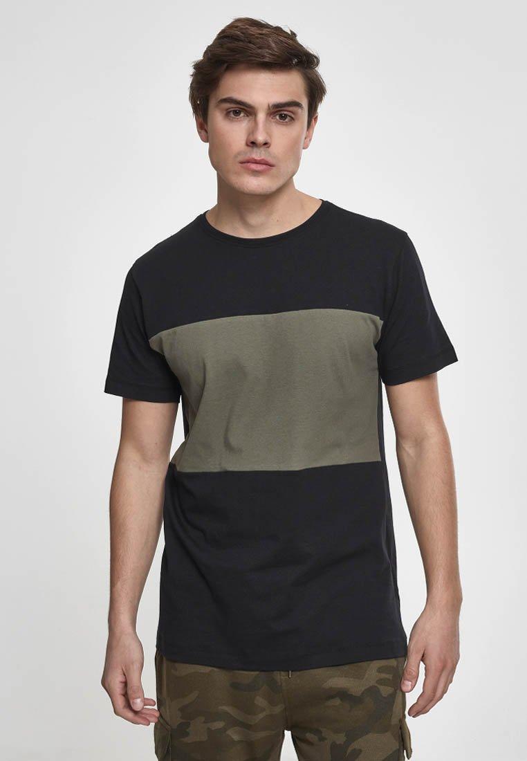 Urban Classics olive Basique Contrast shirt PanelT Black nO0wP8k