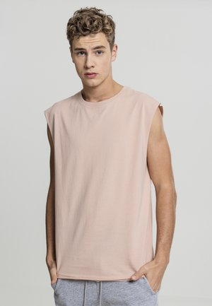 OPEN EDGE SLEEVELESS TEE - Top - light rose