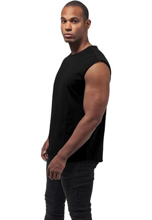 OPEN EDGE SLEEVELESS TEE - Top - black