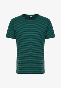 Urban Classics - YARN DYED BABY  - Print T-shirt - dark fresh green/black - 4