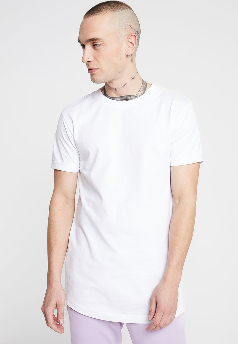 Urban Classics - SHAPED TURN UP TEE - Jednoduché triko - white