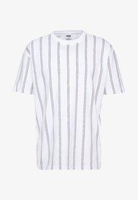 Urban Classics - HEAVY OVERSIZED STRIPE TEE - T-Shirt print - white/navy - 3