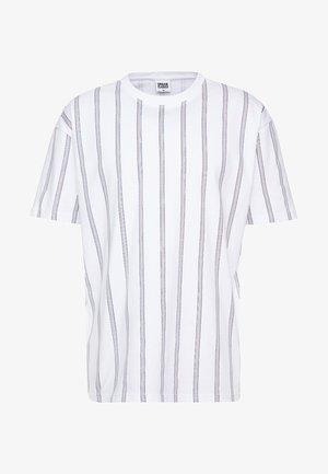 HEAVY OVERSIZED STRIPE TEE - T-shirt imprimé - white/navy