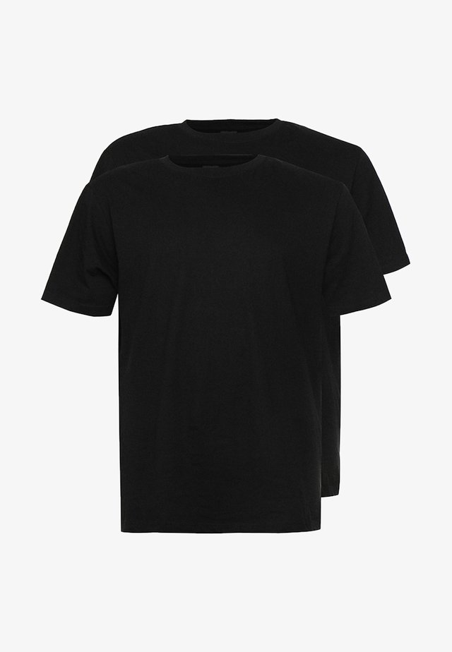 BASIC TEE 2 PACK  - Basic T-shirt - black