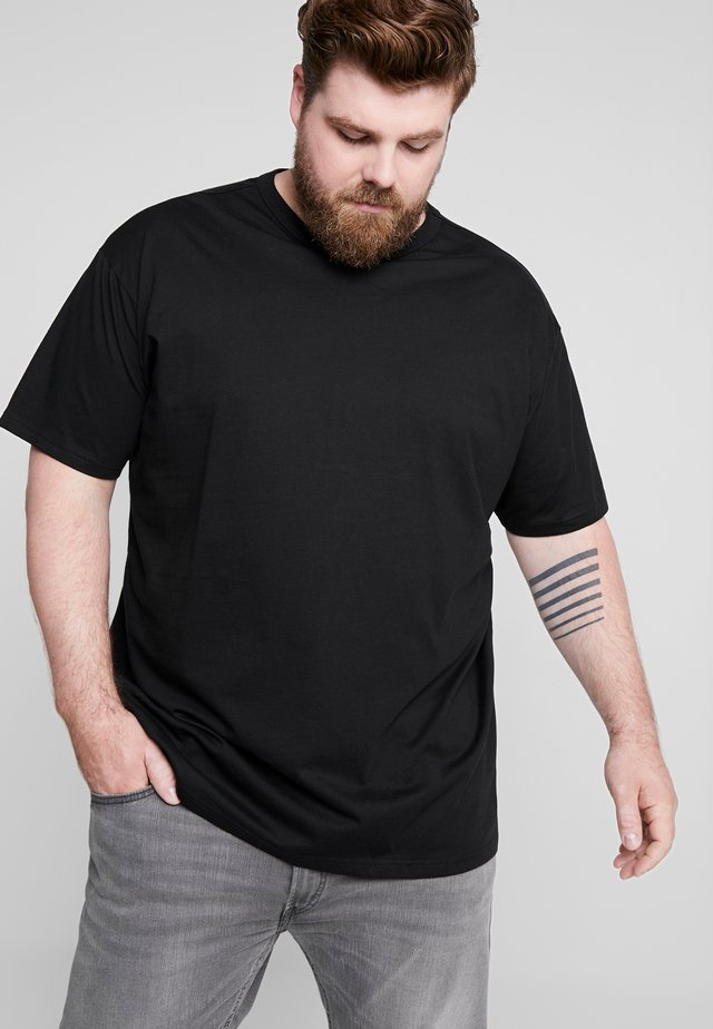 BASIC TEE PLUS SIZE - Basic T-shirt - black