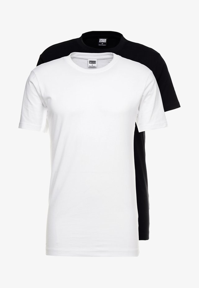 BASIC TEE 2 PACK - Jednoduché triko - black/white
