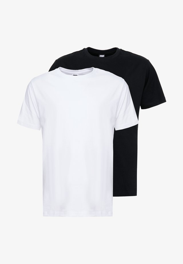 BASIC TEE 2 PACK  - Basic T-shirt - black/white