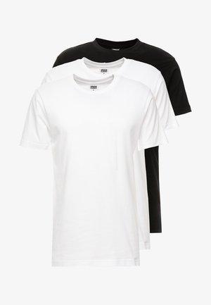 BASIC TEE 3 PACK - T-shirt basic - white/white/black