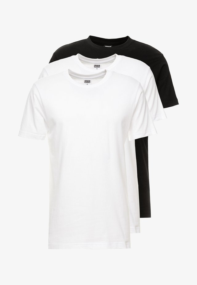 BASIC TEE 3 PACK - Basic T-shirt - white/white/black