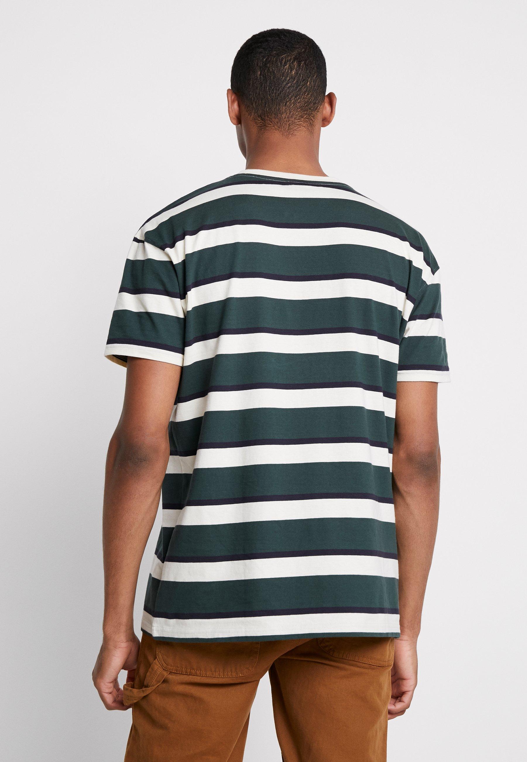 Urban Stripe Sand Oversized Classics shirt Imprimé Block bottlegreen TeeT D2IE9H