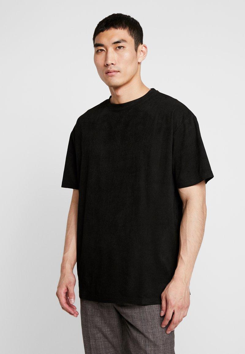 Urban Classics - OVERSIZED PEACHED TEE - T-Shirt basic - black