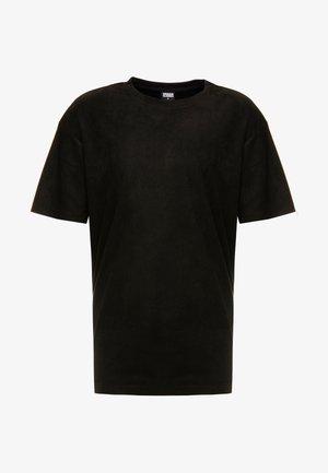 OVERSIZED PEACHED TEE - Camiseta básica - black
