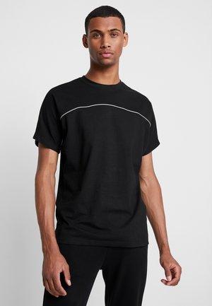 REFLECTIVE TEE - Basic T-shirt - black