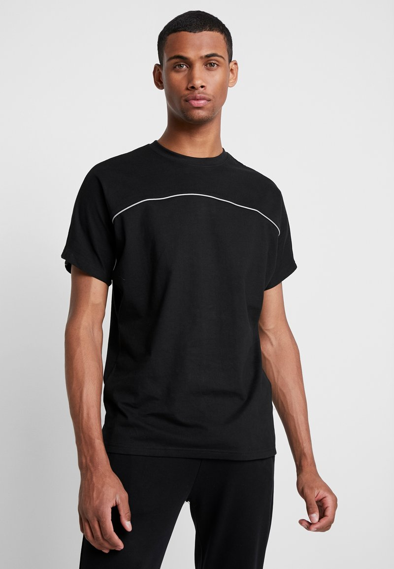Urban Classics - REFLECTIVE TEE - Basic T-shirt - black