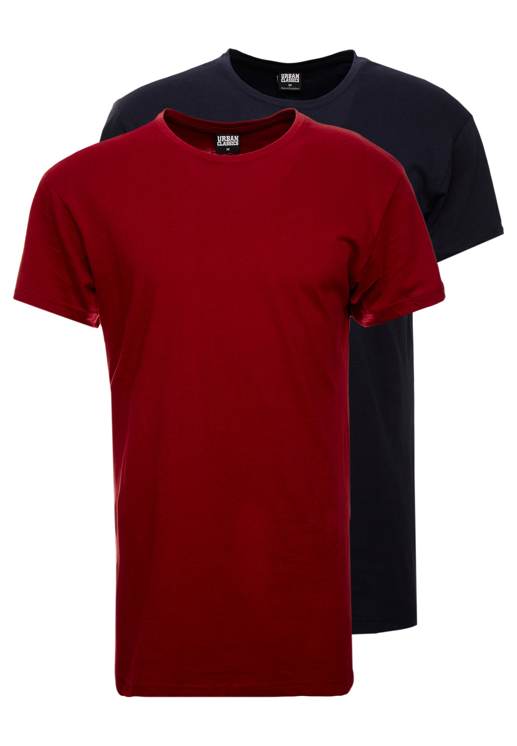 Pack Burgundy navy 2 LonglineT Classics shirt Basic Urban sCxdQthr