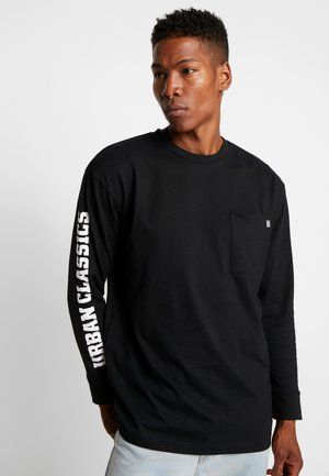 SLEEVE LOGO BOXY POCKET  - Long sleeved top - black
