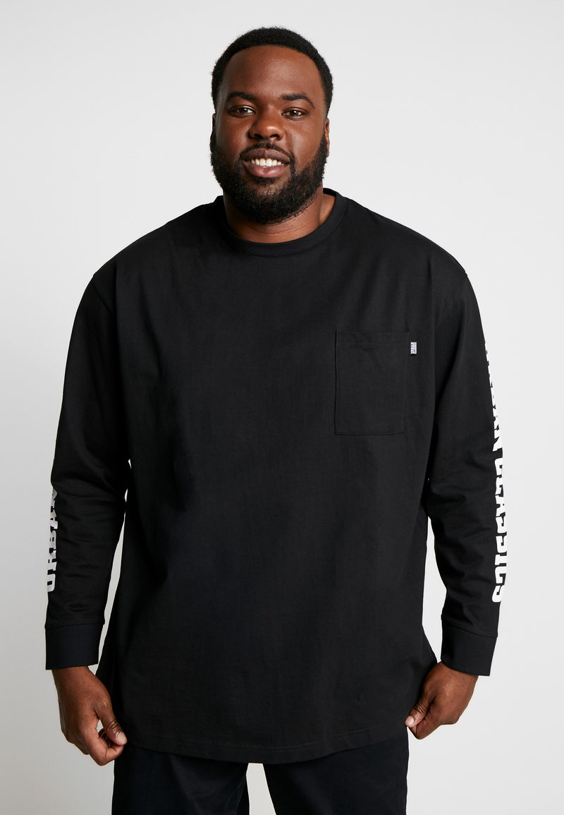 Urban Classics - SLEEVE LOGO BOXY POCKET - T-shirt à manches longues - black