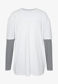 Urban Classics - DOUBLE LAYER STRIPED TEE - Long sleeved top - white - 4