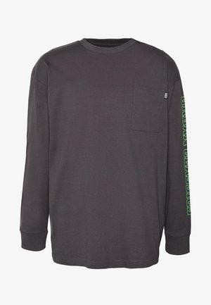 NEON LOGO BOXY POCKET - Långärmad tröja - darkshadow