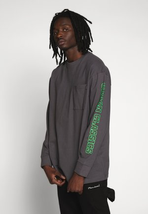 NEON LOGO BOXY POCKET - Longsleeve - darkshadow