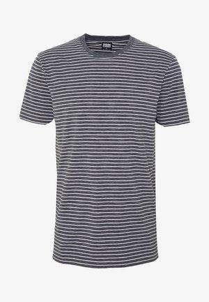 BASIC STRIPED TEE - T-shirt z nadrukiem - charcoal