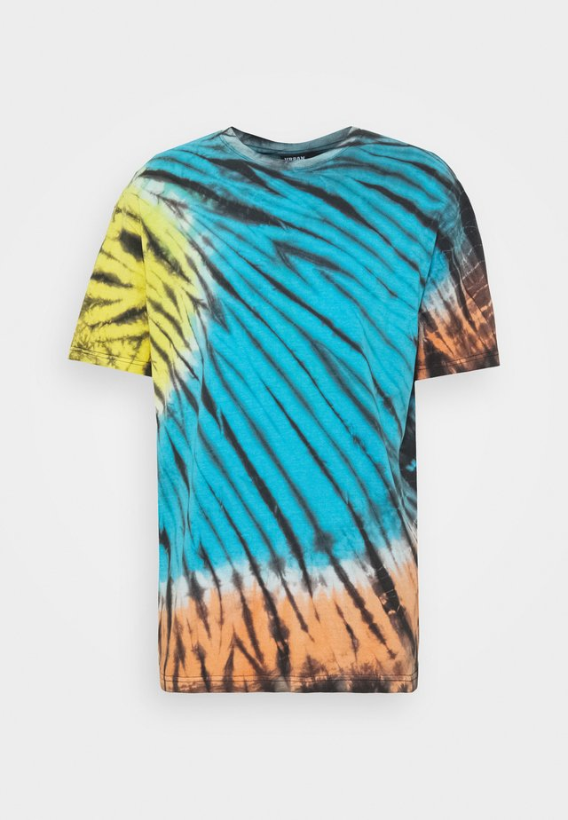 TIE DYE OVERSIZED TEE - T-shirt med print - black